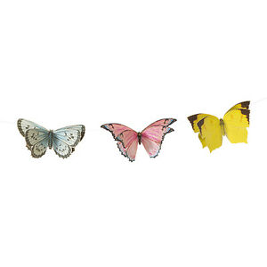 Vintage Style Pretty Butterfly Bunting Garland 3m Butterfly Banner Decoration