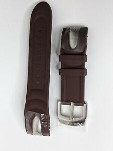 Invicta Reserve Venom Watch Band Strap Brown Polyurethane