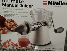 Mueller Masticating Manual Slow Juicer Appliance * Wheatgrass, Kale, Spinach
