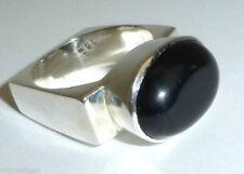 Silpada 925 Sterling Silver Black Oval Onyx Square Ring Sz 9 R0995 RARE RETIRED