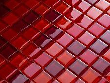 Luxus Glasmosaik Fliesen Matte Weinrot Orange Rot Glas MIX-2 bunt Farben  6mm