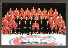 1996-97 Montreal Canadiens Team Card, VG