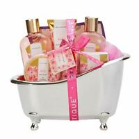 8pc Spa Gift Baskets Set Bath Body Lotion Works for Women Mom Rose Fragrance
