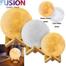 3D Led Moon Lamp Luna Night Light Usb Charging Touch Control Kids Bedroom Gift