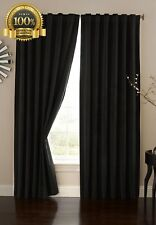 Top Quality Absolute Velvet Black Home Decor 95 Inch Single Curtain Living Room