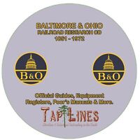 BALTIMORE & OHIO OFFICIAL GUIDES, EQUIPMENT REGISTERS & RESEARCH SCANNED TO DVD