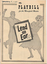 1950 Playbill Lend An Ear Staged & Choreographed by Gower Champion