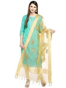 Women Organza Dupatta Tippet Scarf Traditional Wear