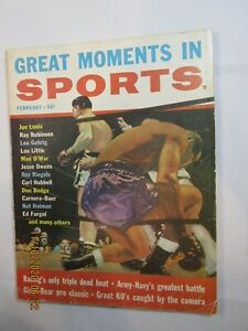 Vintage February 1957 Great Moments in Sports Magazine Joe Louis on Cover