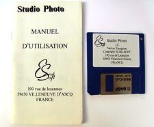 Rare Logiciel Software disk STUDIO PHOTO 1.0 ATARI ST / STE / MEGA / FALCON 030