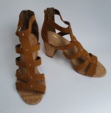 b2a4d0f7b9a Aerosoles Shoes HEELS Sandals ZIPPER at Heel Brown Tan Womens Size 8.5