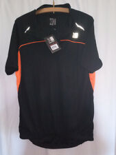 Karrimor black short sleeve v neck zip cycling top new with tags M
