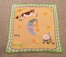 ARTWALK Sweater Knit Baby BLANKET Art Walk HTF Nursery Rhyme Cow Jumped Moon