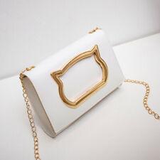 Women Ladies Leather Shoulder Bag Handbag Messenger Gold Chain Cross Body Bag