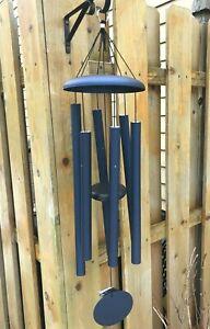 Corinthian Bells tuned windchimes 36 inch midnight blue USA boxed T306