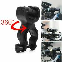 Rotation Bike Bicycle Handlebar Mount Bracket Flashlight Torch Holder Clip Clamp