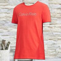 NWT CALVIN KLEIN MEN'S RED CREW NECK SHORT SLEEVE T-SHIRT SIZE M L XL