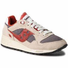 Scarpe Saucony Shadow 5000 Vintage Sneakers Uomo S70404 Panna Beige Grigio Rosso