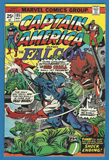 Captain America 185 F/VF 1975 Marvel Falcon Red Skull Mark Jewelers Insert