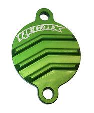 REC MX Green Billet Oil Filter Cover 2005 - 2017 Kawasaki KX250F / KX250 F