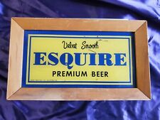 New listing Esquire Premium Beer vintage bar sign light Breweriana Jones Brewing Co man cave