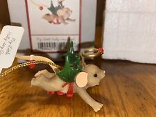 "Charming Tails ""My Little Holly Day Angel"" Dean Griff Nib Christmas Ornament"