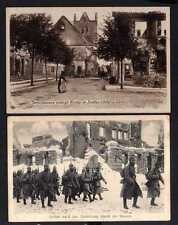 110477 2 AK Soldau 1916 Ostpreußen Krieg im Osten Ruinen Kirche Russen