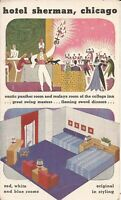Chicago, ILLINOIS - Hotel Sherman - ADVERTISING MULTIVIEW - 1946