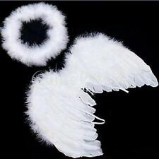 Baby Kids White Fairy Wings Feather for Party Decoration And for Photo Prop B