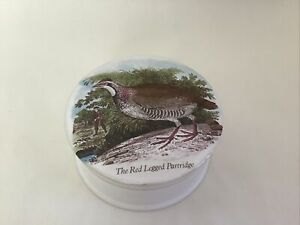 A. G.Hackney, English Porcelain Staffordshire Red Legged Partridge Trinket 41/2""