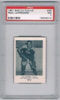 1951 Bas Du Fleuve Hockey Card Matane #26 Real Lafreniere Graded PSA 7