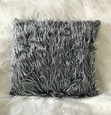 Cushion cover cushions long Shaggy faux fur TWO TONE cushion or cover 17 x 17""