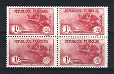 "FRANCE STAMP N° 231 "" ORPHELINS 1F+25c LA MARSEILLAISE BLOC 4"" NEUF xx LUXE T738"
