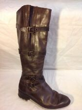 Mitica Brown Knee High Leather Boots Size 37