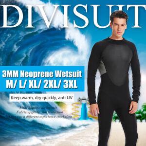 3mm Neoprene Men Wetsuit Full Body Super stretch Diving Swimming Surfing suit