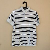 Tommy Hilfiger Mens Size S Blue Polo Shirt Striped Great Condition!