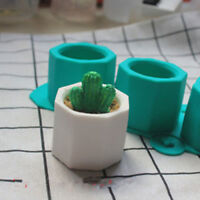 Silicone Cactus Flower Pot Mold Ceramic Clay Craft Casting Concrete Cup M jo