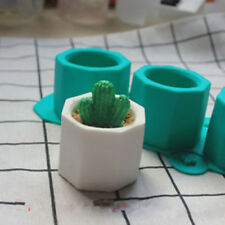 Silicone Cactus Flower Pot Mold Ceramic Clay Craft Casting Concrete Cup Mold