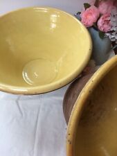 More details for large 46cm country house antique rustic glazed terracotta pancheon dairy bowl