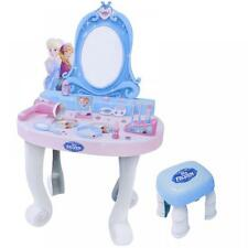 Disney Frozen Dressing Table Vanity Mirror Play Set Toy Make Up Desk With Stool