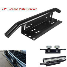 23'' Bull Bar Front Bumper License Plate Mount Bracket Offroad Light Holder #C2