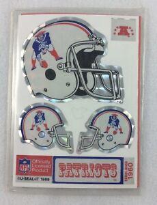NFL 1989-90 U-Seal-It - New England Patriot 3-Sticker Pack-Helmet-Hotshot-Huddle