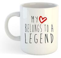 My Heart Belongs To A Legend Mug