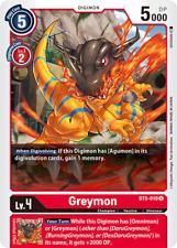 Digimon Card Game Greymon BT5-010 Uncommon