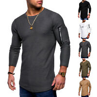 New Men's Slim Fit Hoodie Long Sleeve Muscle Tee T-shirt Casual Tops Blouse