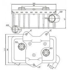 NRF Oil Cooler, engine oil 31181