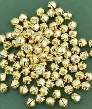 Pack of 10 x 10mm Gold Cat Bells - Christmas Jingle Bells - Craft Bells - Sewing