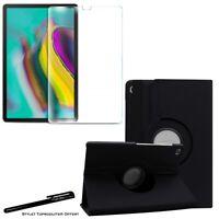 Housse Etui Noir pour Samsung Galaxy Tab S5e T720 T725 + Vitre de protection