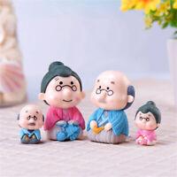 Mini Cute Miniature Fairy Garden Figurines Grandpa&Grandma For Bonsai Home Decor