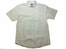 BHS Short Sleeve Striped Formal Shirts for Men
